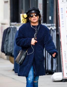 Lea Michele - Strolls in New York City - 12-19-2017