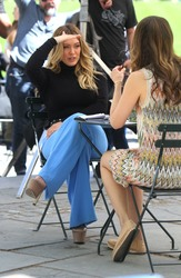 Hilary Duff - Filming Younger in NYC 4/24/19