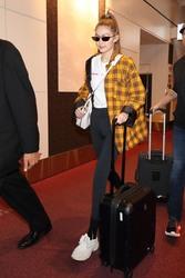 Gigi Hadid - At the airport in Tokyo 11/13/18