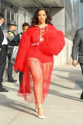 Dascha Polanco - Leaving the The Jacob K. Javits Convention Center in NYC 4/22/18