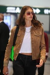 Kaia Gerber - Arriving in Milan 9/18/18