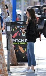 Lily Collins - Out in LA 4/16/18