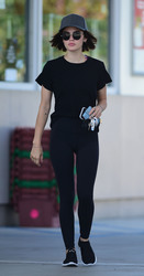 Lucy Hale - At a gas station in LA 7/25/18
