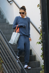 Jessica Alba - Leaving the gym in LA 9/8/18