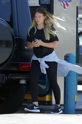 Hilary Duff - At a gas station in LA 6/25/18