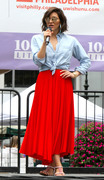 Katharine McPhee - Rehearsing for Broadway in the Park in NYC 7/12/18