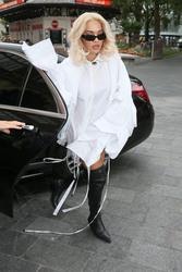 Rita Ora - Arriving at Global Radio studios in London 9/4/18