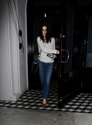 Courteney Cox - Out for dinner in West Hollywood 3/14/19