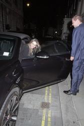 Elizabeth Hurley - Out for dinner in London 9/18/18
