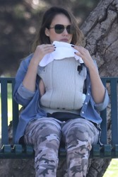Jessica Alba - Coldwater Canyon Park in Beverly Hills 2/17/18