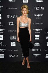 Martha Hunt - Harper's Bazaar Icons Party in NYC 9/7/18