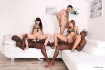 Milana Love, Sasha Colibri - Nasty bitches Milana Love, Sasha Colibri going crazy for black cocks IV261 480p