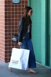 Lily Collins - Shopping in Beverly Hills 4/18/18