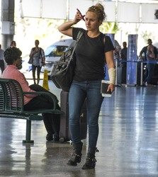 Hayden Panettiere - At the airport in Barbados 2/21/18
