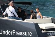 Bella Hadid boarding a yacht in Monaco 05/25/201849c641876374924