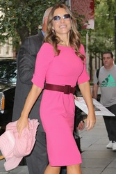 Elizabeth Hurley - Leaving her hotel in NYC 10/1/18