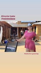 Milana Vayntrub on the set of a new project - 6/13/19 Instagram Pics