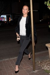 Alicia Vikander - Out for dinner in West Hollywood 1/15/18