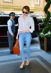 Emma Stone - Arriving at her hotel in NYC 5/7/18