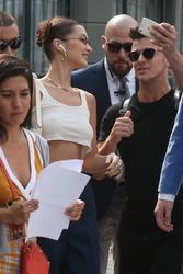 Bella Hadid - Arriving at the Alberta Ferretti Fashion Show in Milan 9/19/18