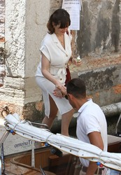 Emily Mortimer -                             ''Honey in the Head'' Set Venice July 16th 2018.
