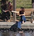 Selena Gomez at Lake Balboa park in Encino 02/02/201848adc4737640813