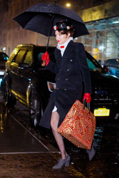 Gigi Hadid - Dressed as Mary Poppins in NYC 12/31/18