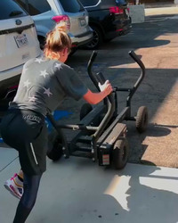 Kaley Cuoco Exercising in a Parking Lot - 9/25/18 Instagram Video