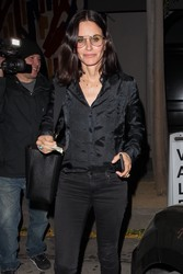 Courteney Cox - Out for dinner in West Hollywood 4/10/19