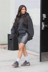 Kim Kardashian - At the Watts Empowerment Center in LA 3/16/18