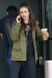 Lily Collins - At Starbucks in West Hollywood 5/19/18