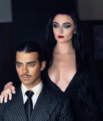 Sophie Turner - Instagram, as Morticia Addams, 11/2/2018