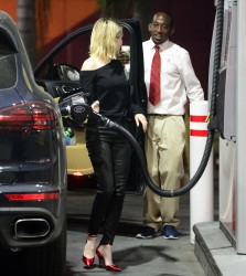 Emma Roberts - At a gas station in LA 1/31/18
