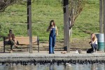Selena Gomez at Lake Balboa park in Encino 02/02/2018c5cca1737644413