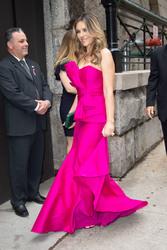 Elizabeth Hurley - Leaving her hotel in NYC 5/17/18