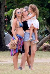 Candice Swanepoel & Doutzen Kroes - Hanging out in Trancoso, Brazil 1/4/18