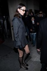 Bella Hadid - Leaving her hotel in Paris 3/1/18