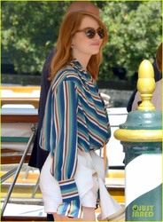 Emma Stone - Arriving in Venice, Italy 8/29/18