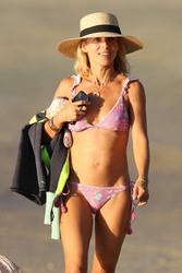 Elsa Pataky - Bikini candids in Byron Bay 4/5/18