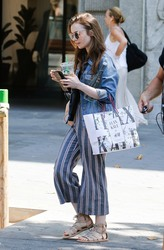 Lily Collins - Out in Barcelona 7/12/18