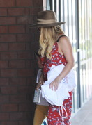 Hilary Duff - Picking up her son from Jiu Jitsu Class in Hollywood 6/9/18