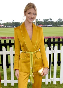 Martha Hunt -                      Cartier Queens Cup Guards Polo Club Windsor Great Park England June 17th 2018.
