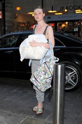 Elle Fanning - Arriving at her hotel in London 7/23/18