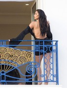 Nicole Scherzinger - On set of a photoshoot in Cannes 5/16/18