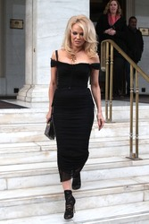 Pamela Anderson - Out in Athens 2/25/19