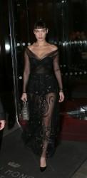 Bella Hadid - Arriving at the Dior Ball in Paris 1/22/18