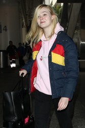 Elle Fanning - At LAX airport 3/7/18