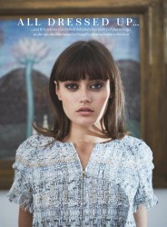 Ella Purnell -            	Marie Claire Magazine (UK) January 2018.