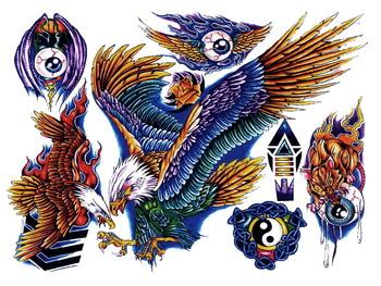 Татуировки без фона PNG (134 шт)