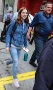 Ellie Kemper - On set in NYC 6/13/18